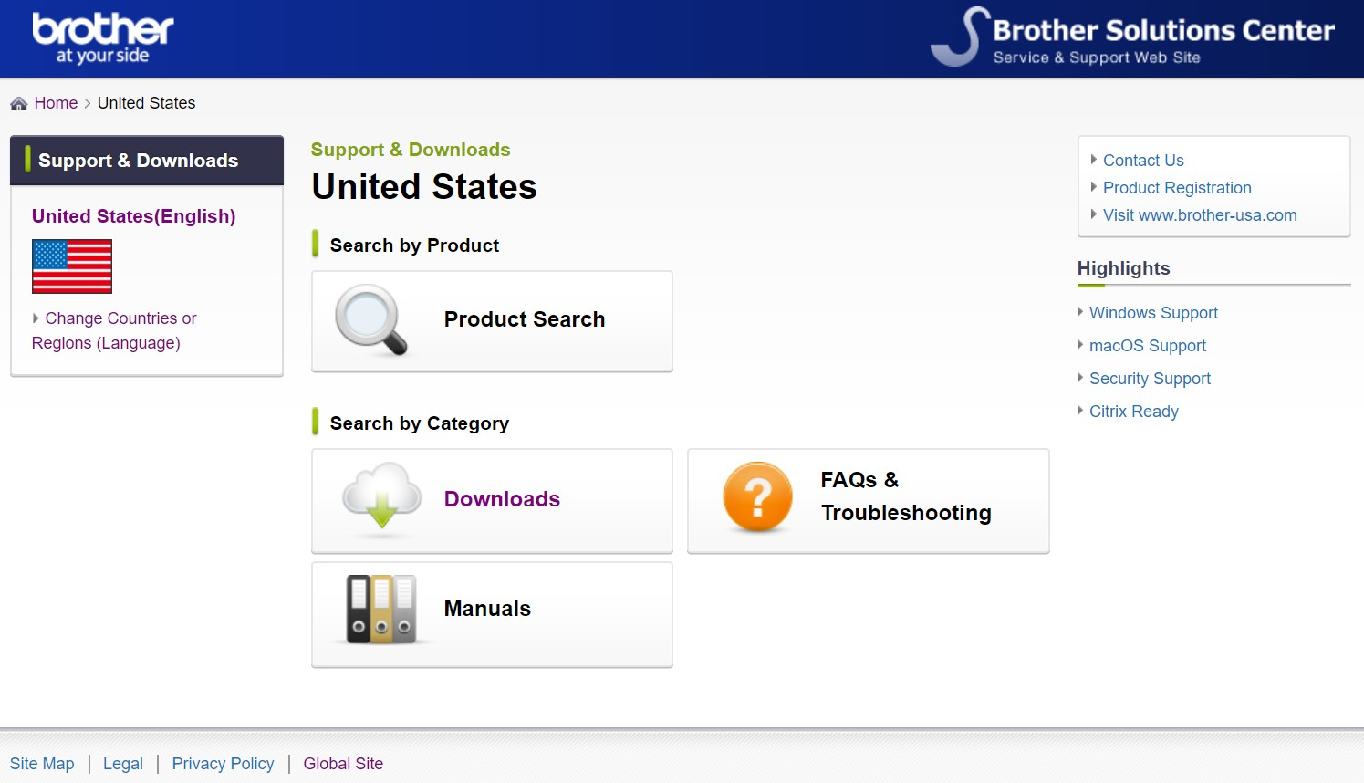 Brother Utilities Install Page